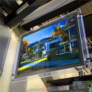 New design magnetic/fabric aluminum rotating 2 sides frame led light box