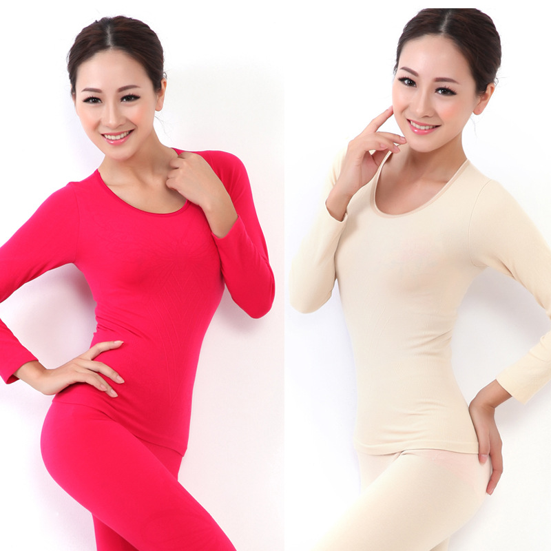 Women long-sleeve beauty care seamless thermal underwear body shaping long johns long johns modal cotton female