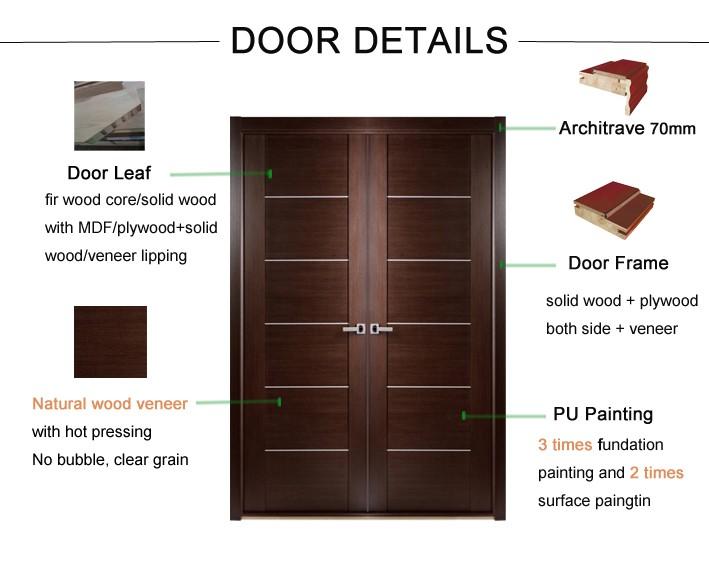 Modern Double Wood Door Main Entrance Wooden Doors Buy