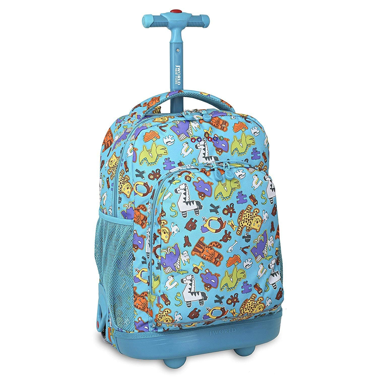 Buy Kids Blue Animal Characters Themed Rolling Backpack Kids School