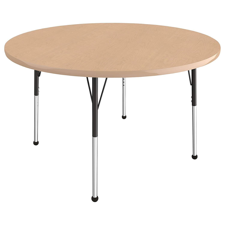 Adjustable Height 19-30 inch Maple//Yellow Standard Legs w// Ball Glides ECR4Kids Mesa Premium 30 x 60 Rectangular School Activity Table