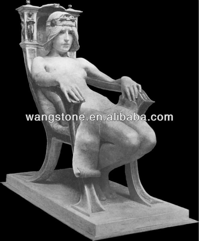 Sitting Roman Male Marble Stone Statues