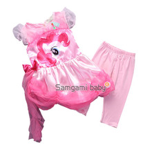 baby girl clothes girls tutu My dress little pony kids suit cartoon princess baby lace sequin