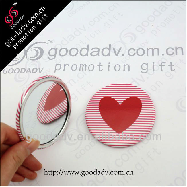 Wholesale diameter 58MM hand mirrors cheap corporate gifts pocket hand mirrors