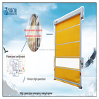 Winsion new patent ermengency manual chain remote roller shutter door China supplier