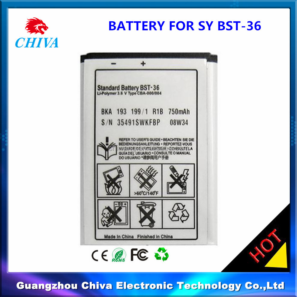 Cell Phone Battery for Sony J300 T270 W200,Cell Phone Battery for Sony bst36 bst-36