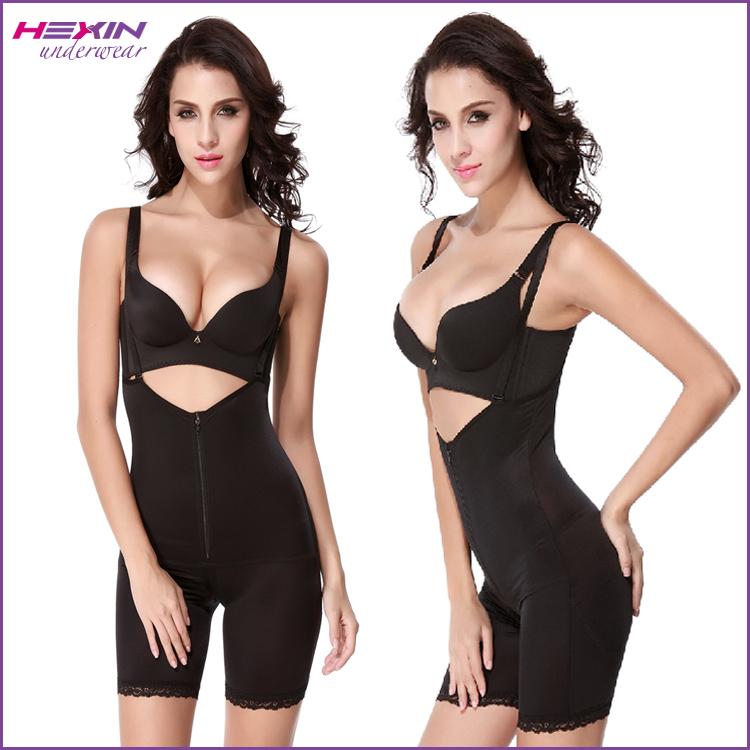 aa45b57871 Full Body Shaper Butt Lifter Zipper Front Women Slimming Suit Shapewear