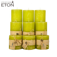 Sweet aroma giant pillar candle with natural vegetable wax material