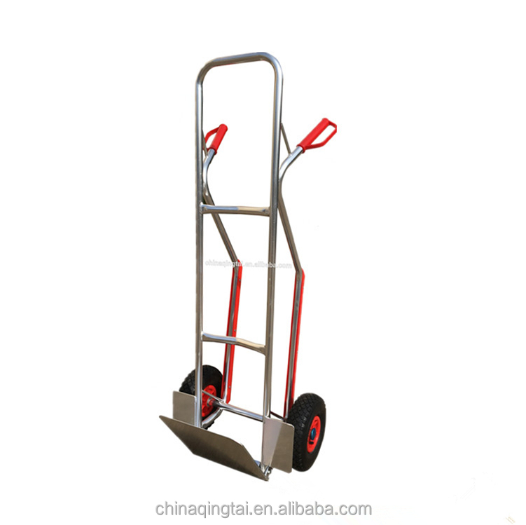 Widely used big wheel aluminium hand truck