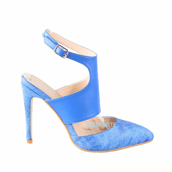 Fashion Ankle Strap Nude Sandal Sexy Ladies Dress High Heels