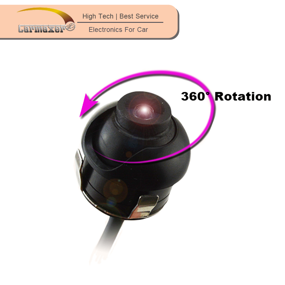 360 degree rotation OEM mini hidden 180 degree rear view car camera for cars