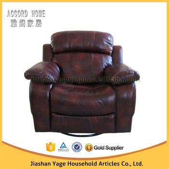 Lazy Boy Rocker Recliner Sofa Chocolate Brown Leather From China