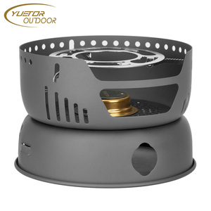Camping Stove/ Backpacking Stove - Potable Stainless Steel Wood Burning Stove Picnic BBQ Camping