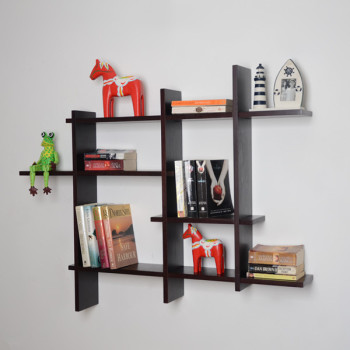 Wooden Wall Rack Designs diy wall shelf ideas Bookcase Display Racks Wooden Wall Shelf Design