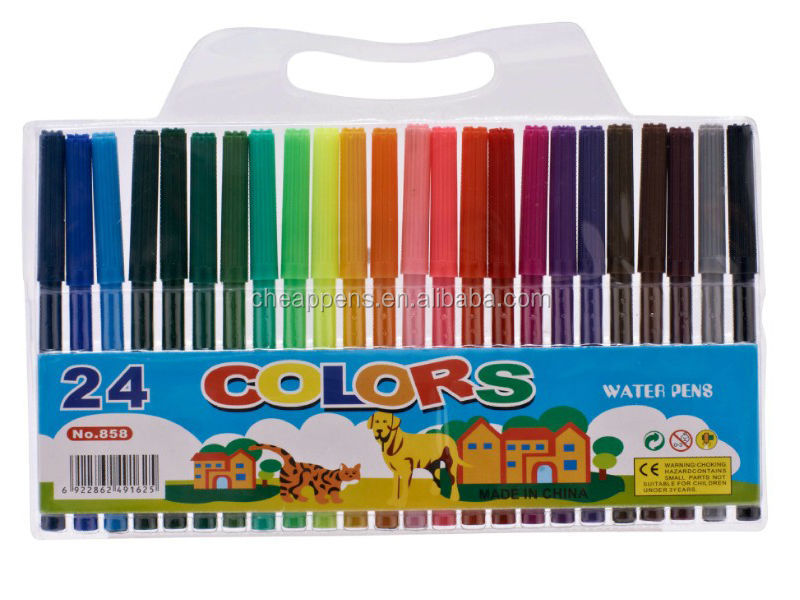 brush style water ink children drawing art marker pen