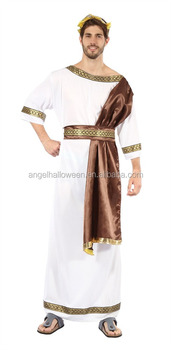 Adult Carnival Costume Mens Greek Roman Grecian Goddess God Toga