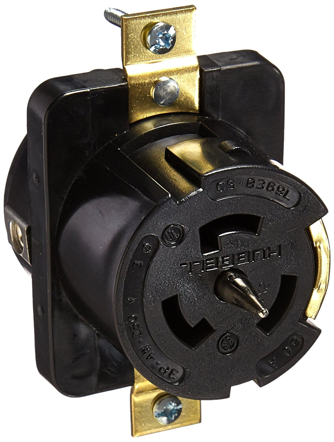 Cheap 3 Pole 4 Wire Receptacle Find Deals Shop Cooper Wiring Devices 20amp 250volt Black 3wire Grounding Plug Get Quotations Hubbell Cs8369l Locking 50 Amp Phase 250v