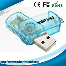 Promotion product portable credit card pen drive with gift box