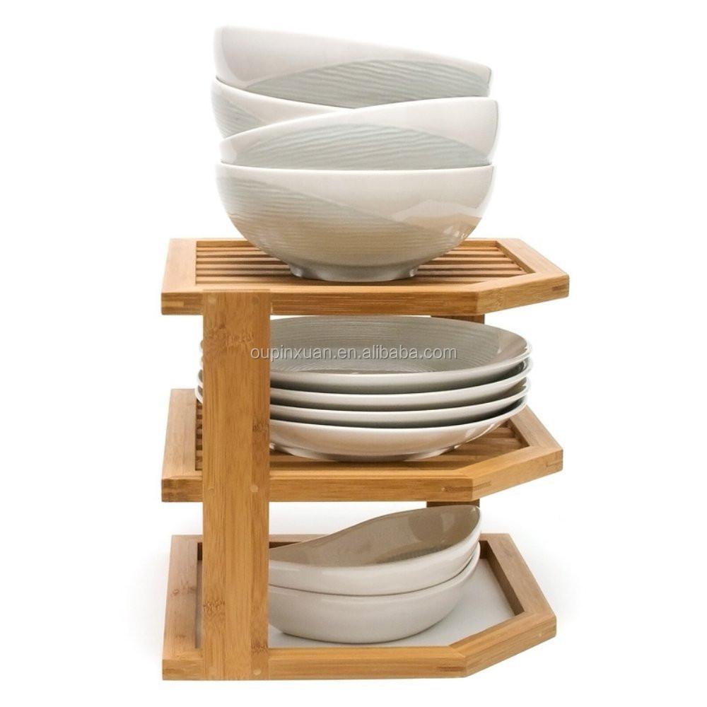 Kitchen Storage & Organisation Wooden 3 Tier Corner Kitchen ...