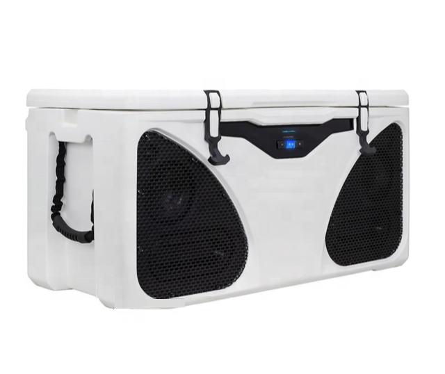 Refrigerador de hielo personalizado de 65 litros para música, impermeable para exteriores, picnic, camping, Altavoz bluetooth, refrigerador de fiesta