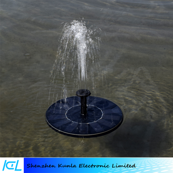 High quality Floating Round Solar Water Fountain Submersible Water Pump