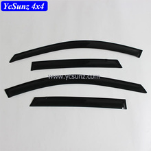 Window Deflectors Acrylic Sheet Door Visor Rain Shield Black for MAZDA CX5 2012