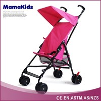 hotselling 4 wheels outside umbrella baby sit and stand stroller