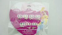 Kids Licensed Princess stick on earring and ring sets made in china