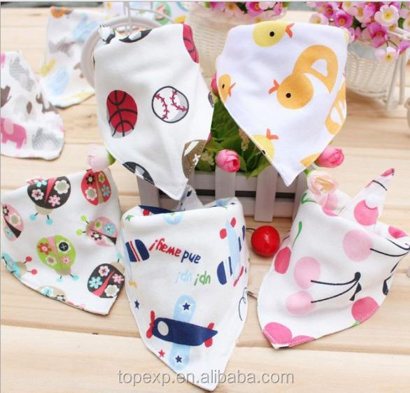 Printed Cotton Soft Touch Bandana Baby Bibs