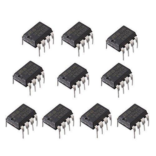 10Pcs UA741CN DIP-8 UA741 LM741 Operational Amplifiers OP AMP IC