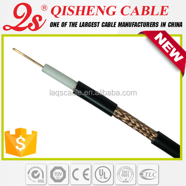 75 ohm rg6 antenna cable rg6u tv cable rg59 with power extension cable