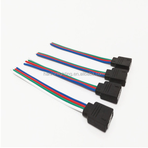 free welding LED connector 4Pin female for 10mm wire RGB strip light