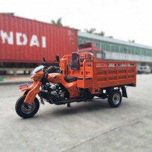 KAVAKI well sell 4-stroke engine 200 cc truck cargo tricycle/five wheel longer motorcycle/double axle Tricycle OEM For Ghana