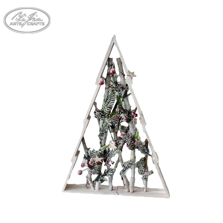 Handmade decoração peças pequeno artificial árvore de natal do floco de neve