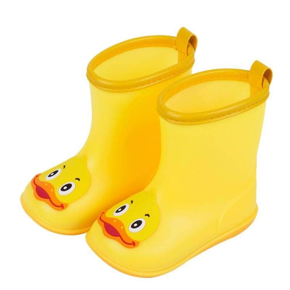 AutumnFall Clearance ❤️Children's Duck Shoes PVC Rubber Kids Baby Cartoon Shoes Children's Water Shoes Waterproof Rain Boots (Age:5-5.5T, Yellow)