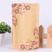 Zipper kraft paper standing up round individual tea bags
