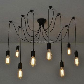 Antieke Klassieke Diy Plafond Spider Lamp Licht Retro Kroonluchter ...