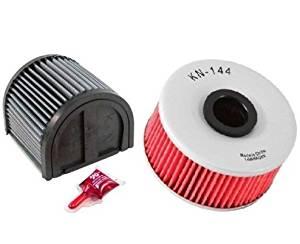 K&N Motorcycle Air Filter + Oil Filter Combo 1990 Yamaha YX600 Radian YA-1600 + KN-144