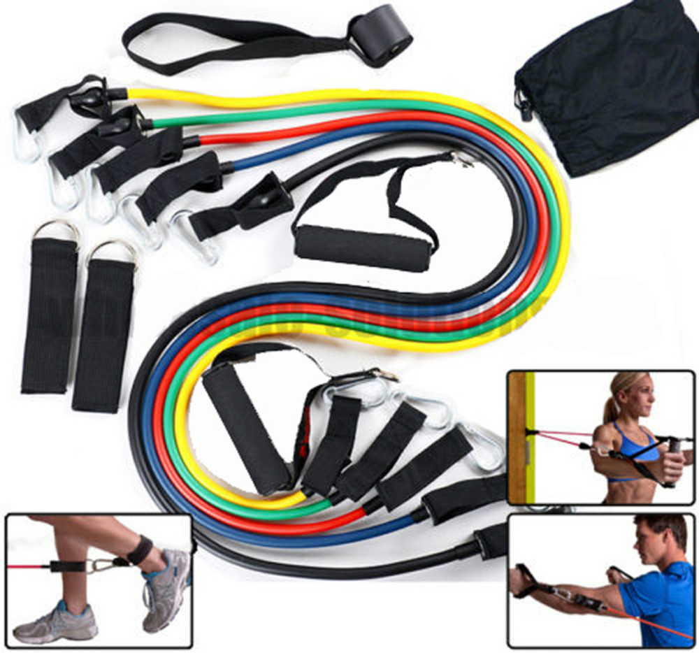 Hot Sale High Quality 11 Piece Home WorkOut Resistance