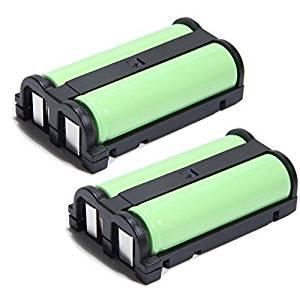 YCM 2 Pack Cordless Home Phone Battery For Panasonic HHR-P513 KX-TG2238 TG2248 TG2258 GE 26423 86423 Empire CPH489 Lenmar CB0-513 Type 27 2.4V 1600mAh