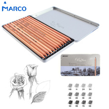 Marco 12Pcs/Box 3H-9B Soft Safe non-toxic Sketching pencils Professionals Drawing Office School Pencil for Kid Gift