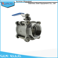 stainless steel standard 1/2 inch 1 inch 2 inch 3 inch 4 inch ball valve