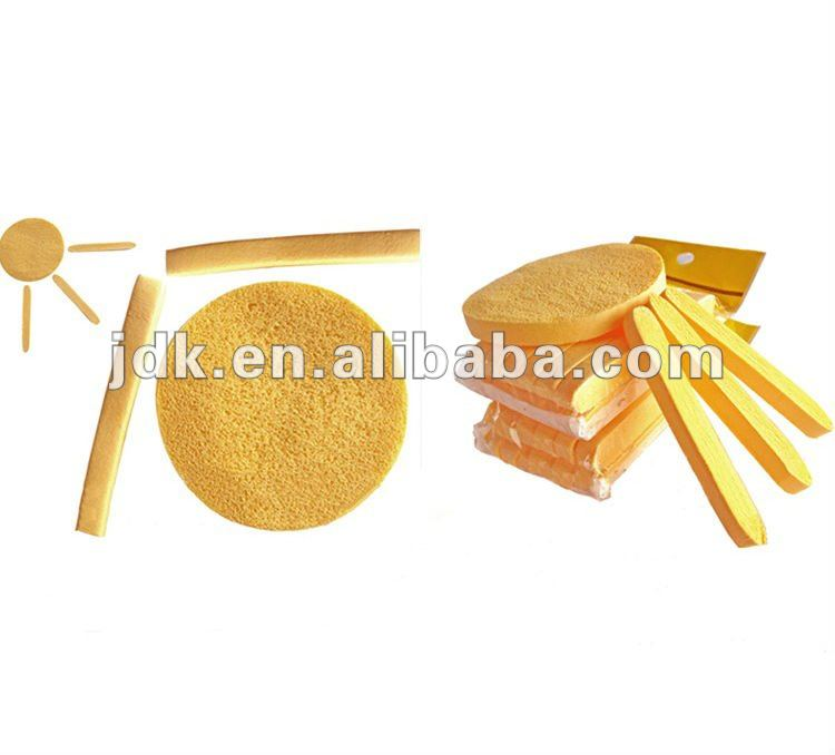 Yellow facial cleaning compressed sponge/natural cellulose sponge puff