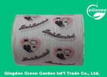 excellent quality customized printed toilet tissue roll paper
