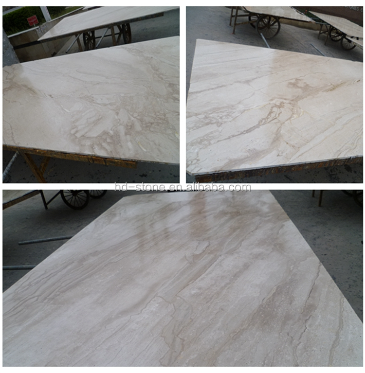 New Imported Italian Beige Marble Price Kerala Slab Polished Wooden Marble for Floor
