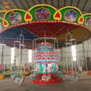 Thrilling amusement park attraction rotating 24 seats flying chair swing rides for sale