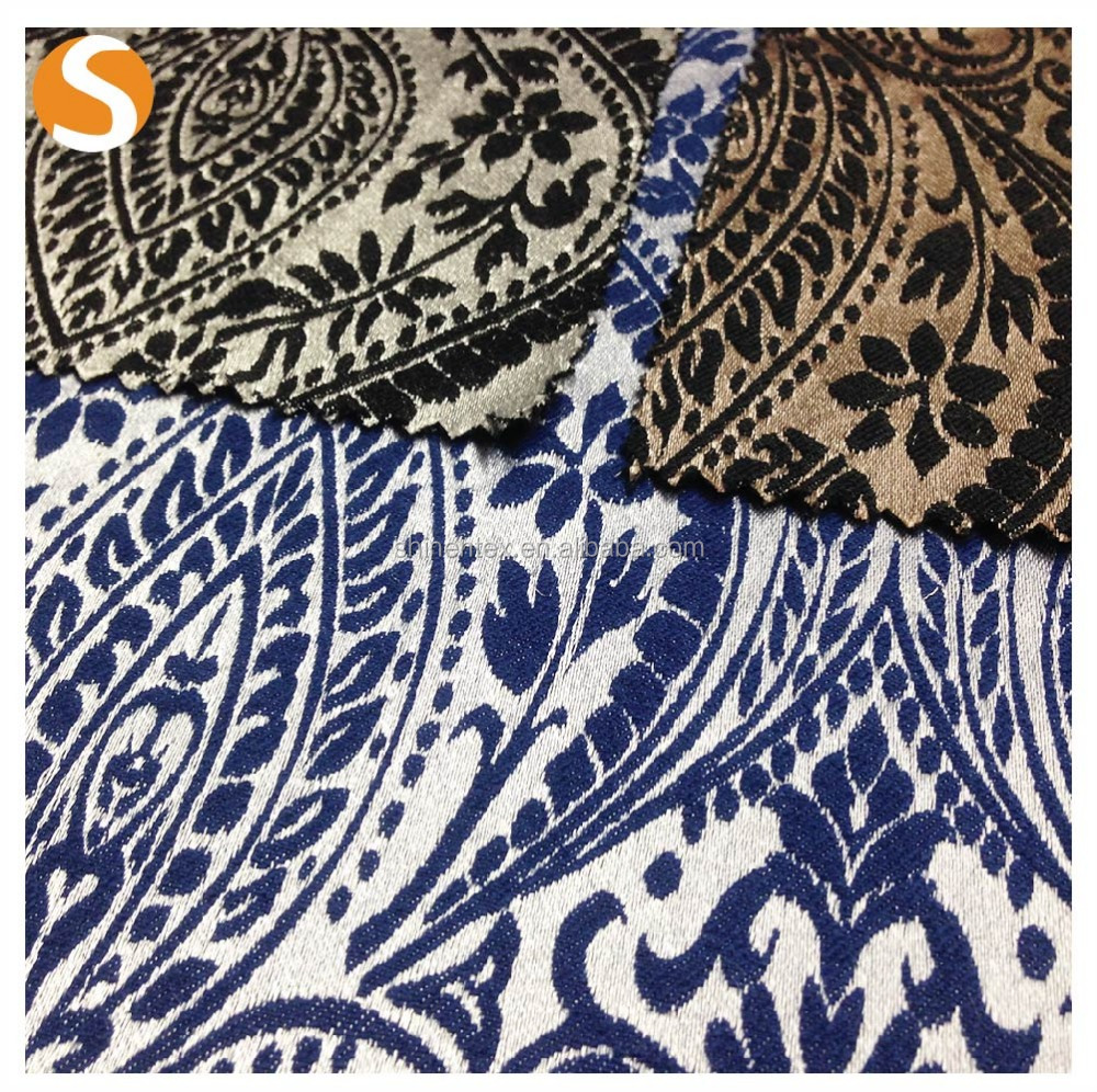 High quality cotton polyester spandex woven upholstery jacquard knitting fabric price per meter
