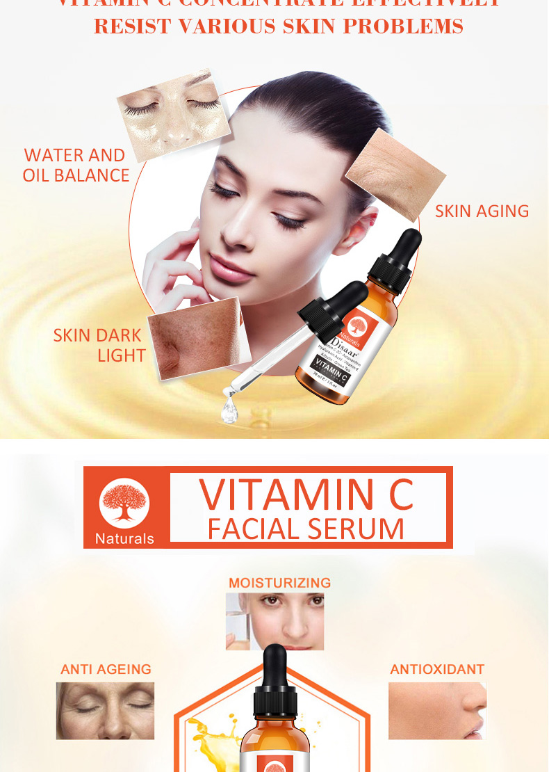 Disaar Green Tea Whitening Vitamin C Facial Serum With Hyaluronic Acid Serum For Face