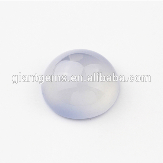 Wholesale loose gem polished blue cabochon natural gemstone chalcedony stones on sale