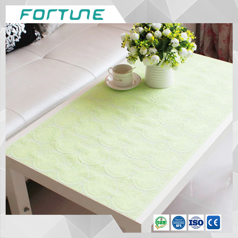natural green color lace tablecloth vinyl table cloth wedding party